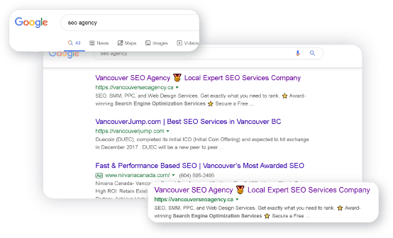 seo agency rank number 1 in Vancouver, BC, Canada