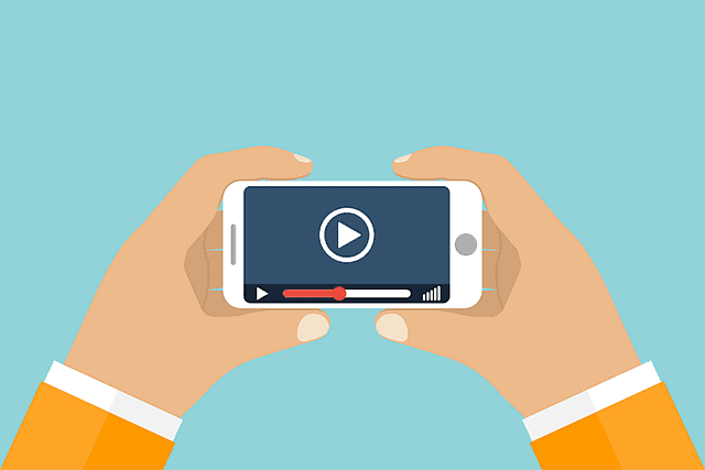 video on mobile device