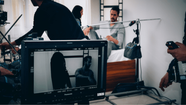 Professional film set